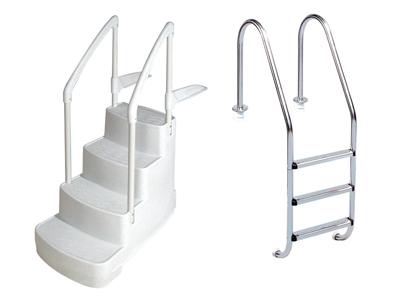 Accessoire piscine echelle - Piscine hors sol avec escalier interieur ...