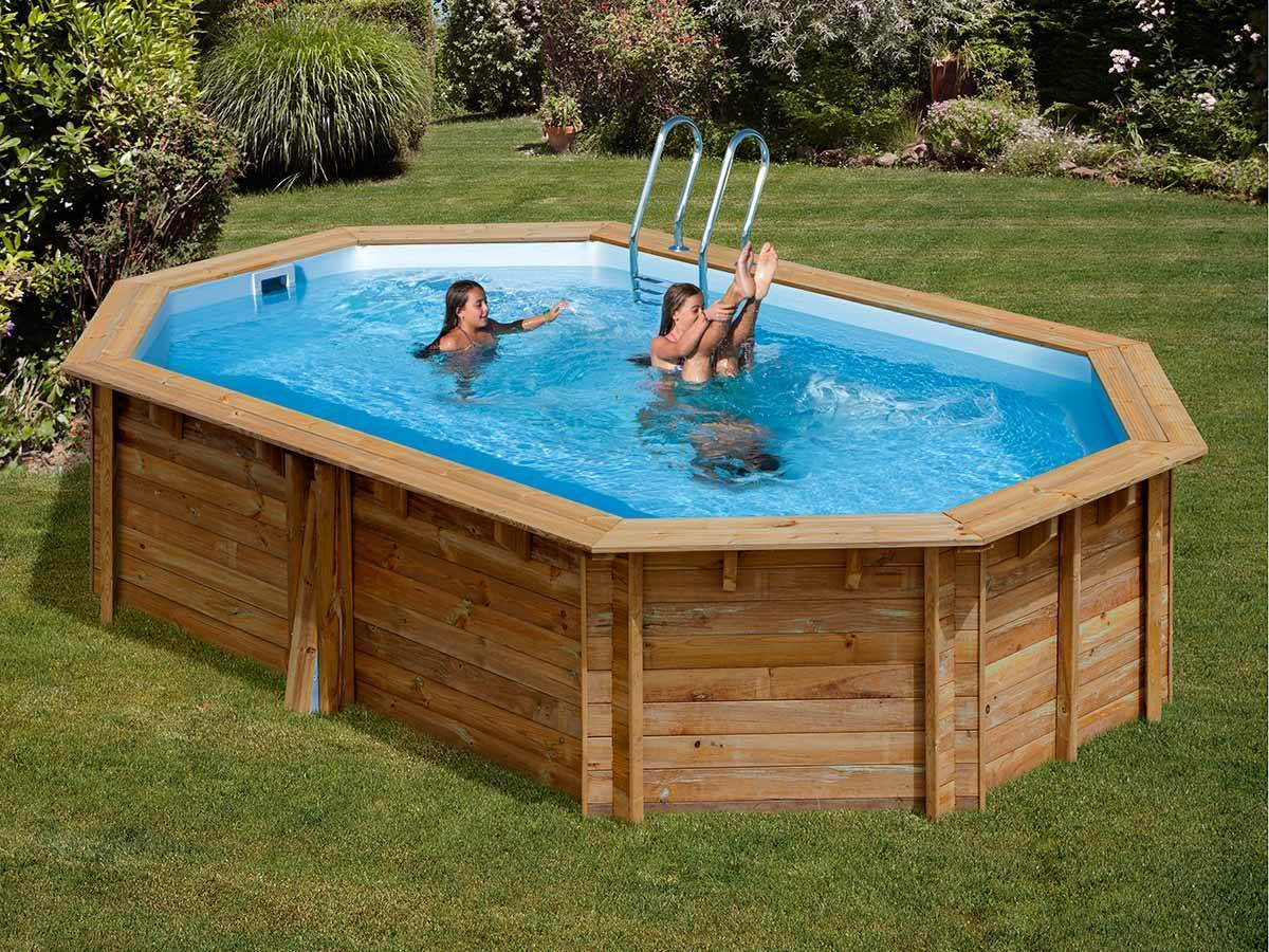 accessoire piscine en bois