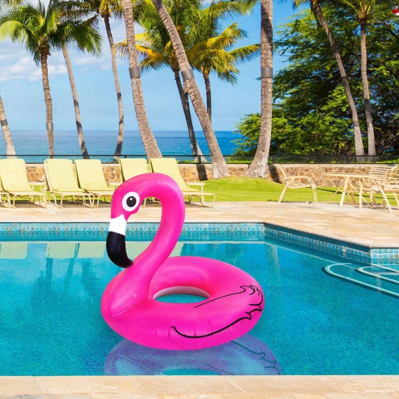 accessoire piscine flamant rose