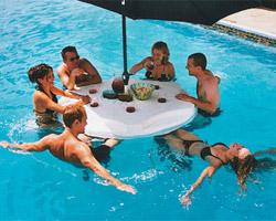 accessoire piscine flottant