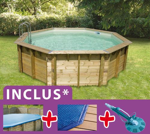 accessoire piscine hors sol bois