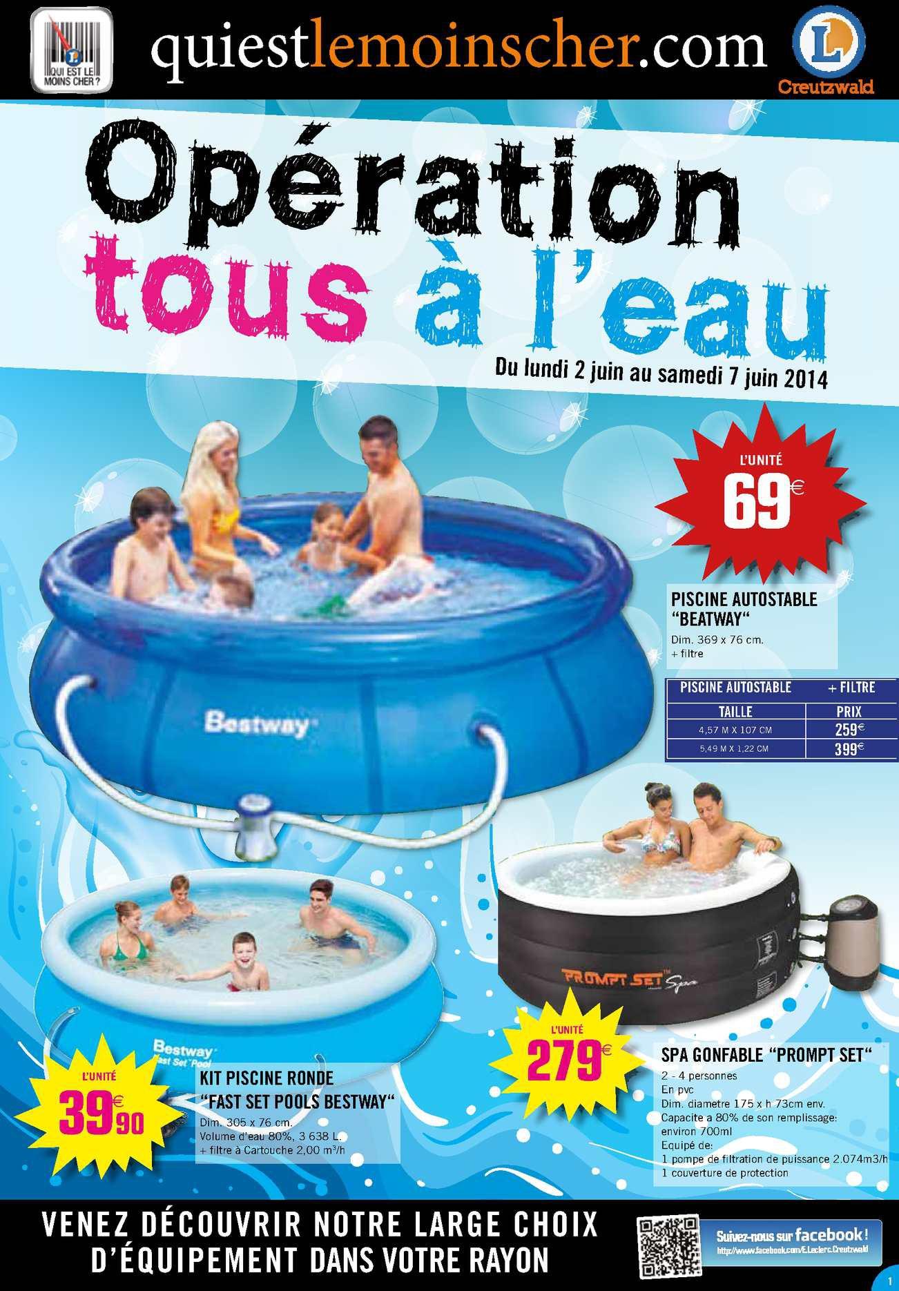 accessoire piscine leclerc