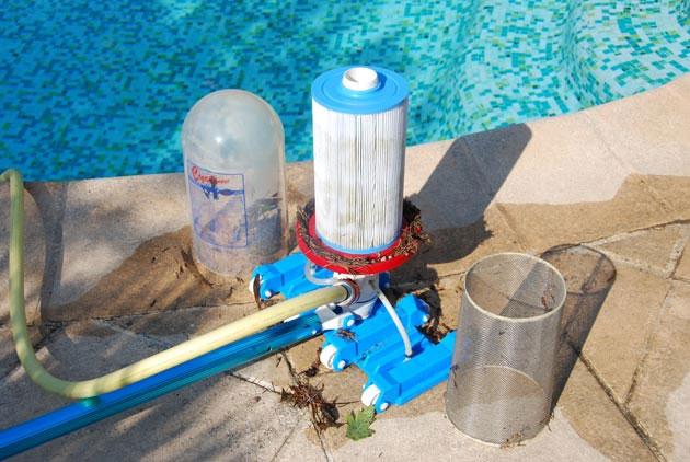 aspirateur piscine avec filtre