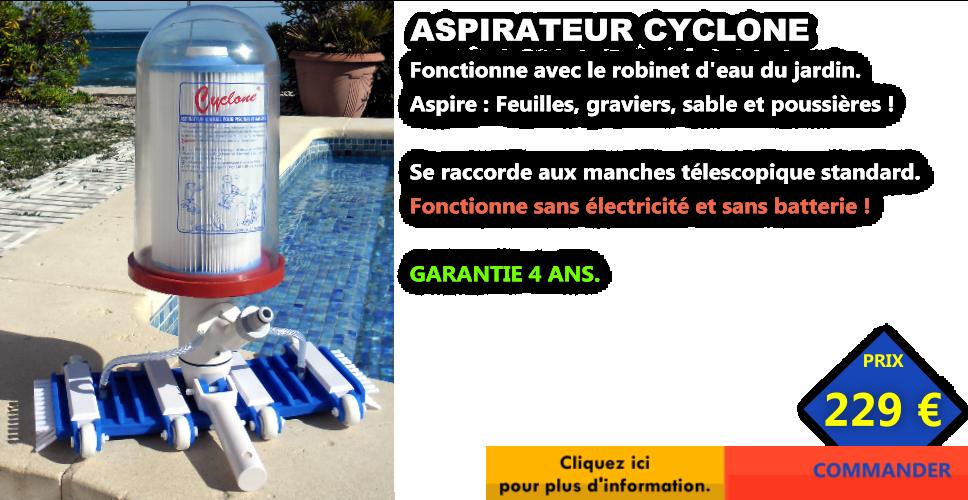 aspirateur piscine cyclone