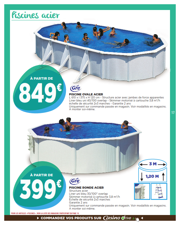 aspirateur piscine geant casino