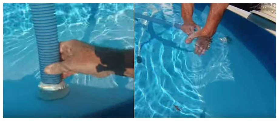 aspirateur piscine sur prise balai