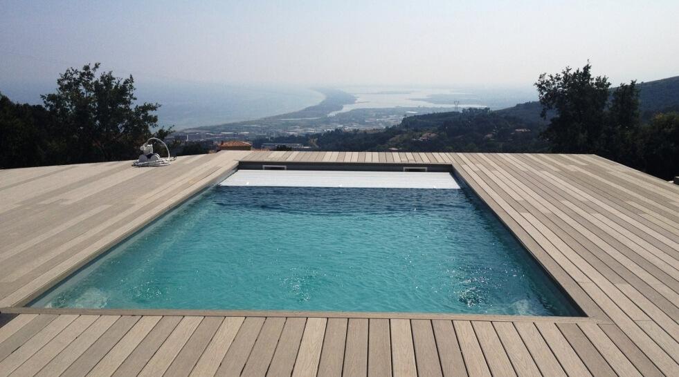 Filtration piscine avec volet roulant - Piscine avec volet roulant immerge ...