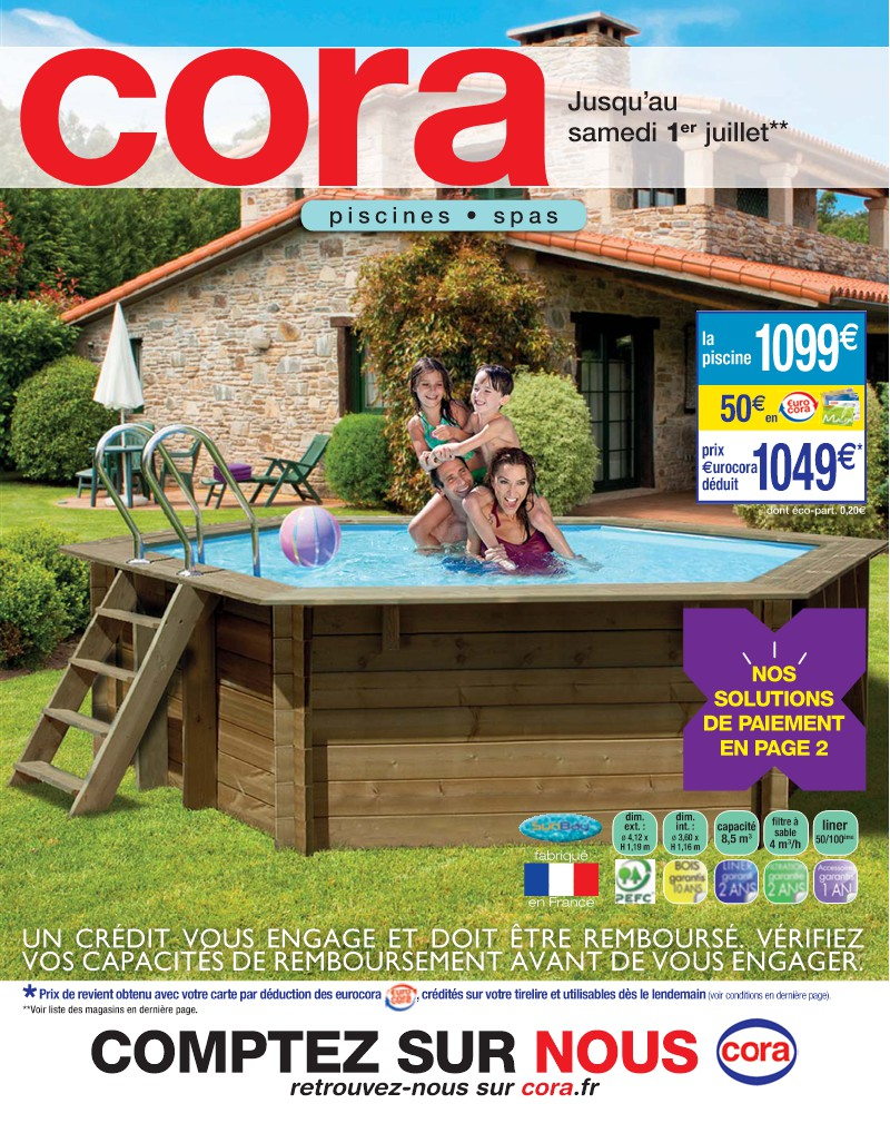 filtration piscine cora
