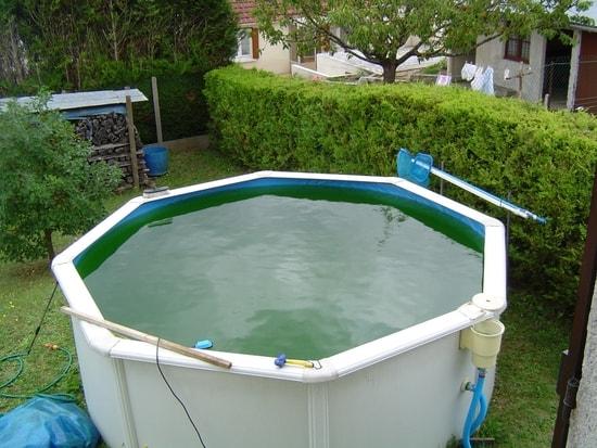 filtration piscine eau verte