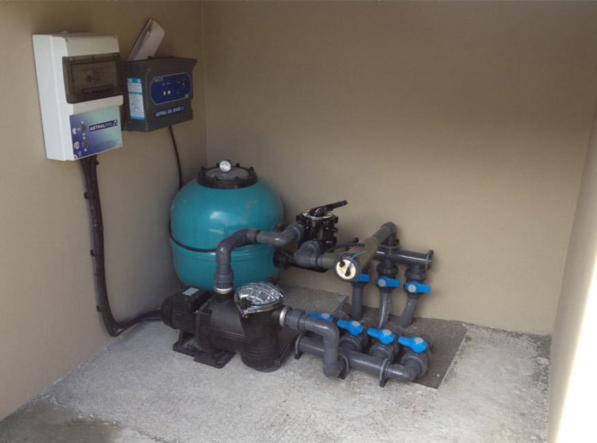 filtration piscine fuite