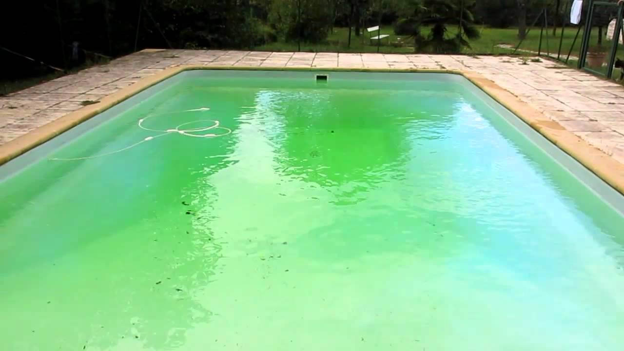 filtration piscine verte