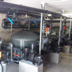 filtration piscine collective