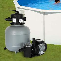 filtration piscine hors sol filtre a sable + pompe