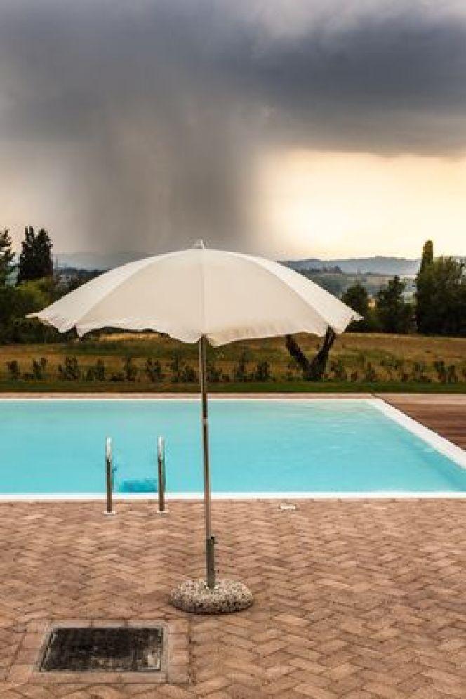 filtration piscine orage
